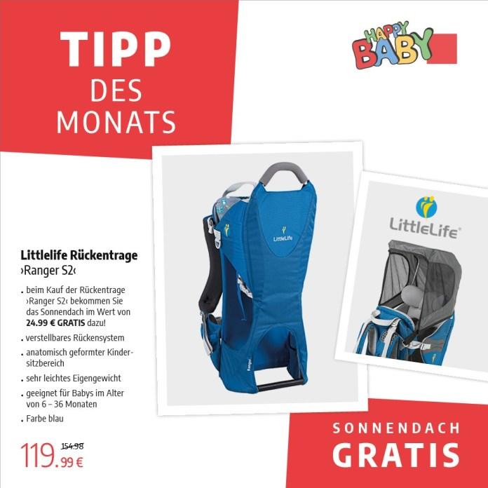 "Tipp des Monats Mai 2020: Rückentrage ""Ranger S2"" von Little Life"