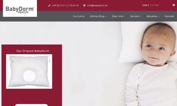 Screenshot der Marke Babydorm