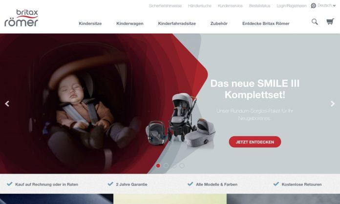 Screenshot der Marke Britax Römer Autositze