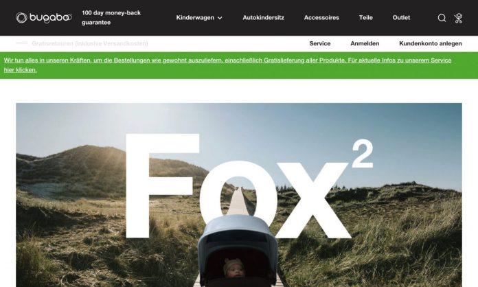 Screenshot der Marke Bugaboo
