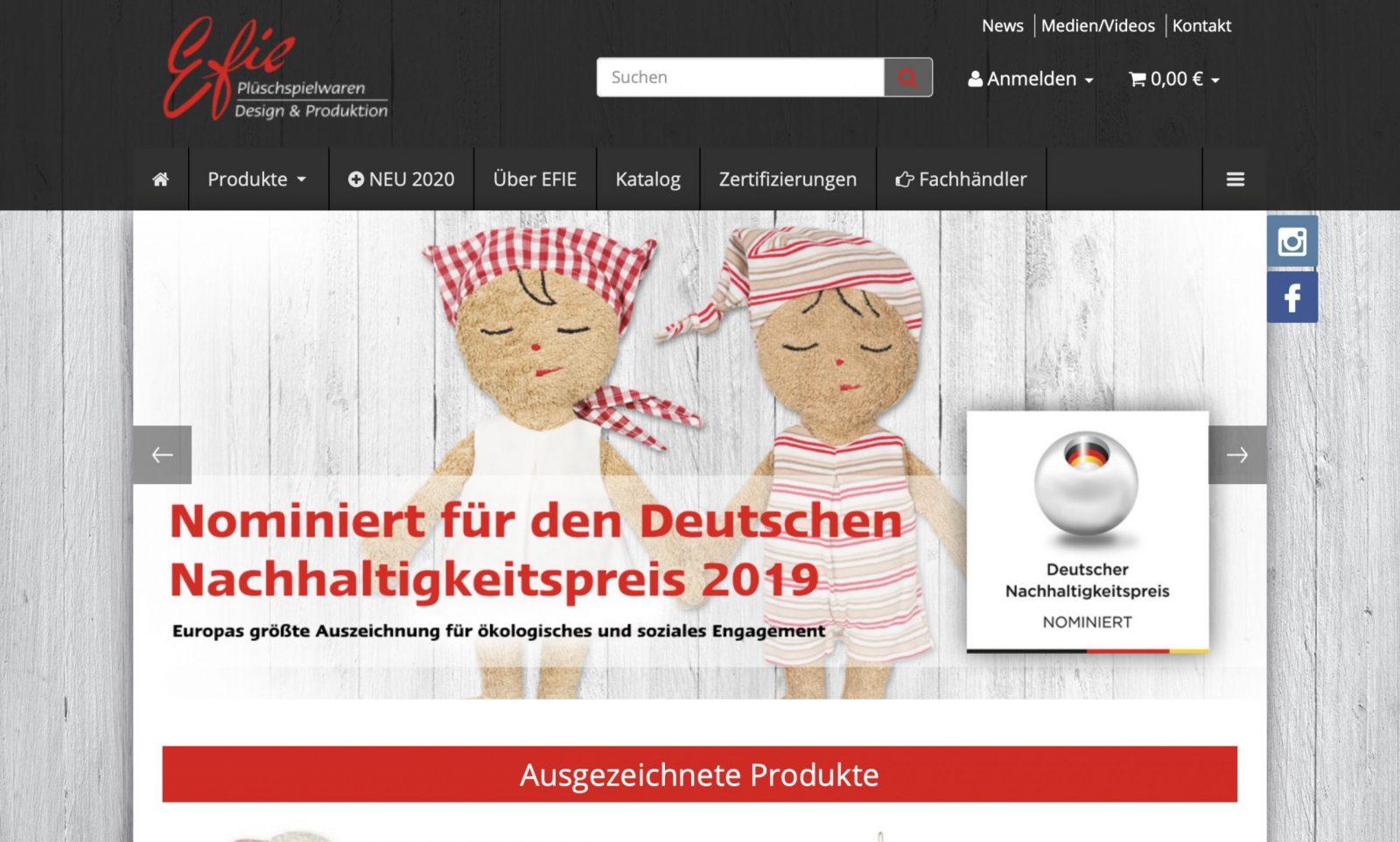 Screenshot der Marke Efie