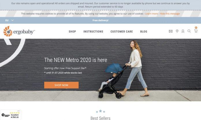 Screenshot der Marke Ergobaby