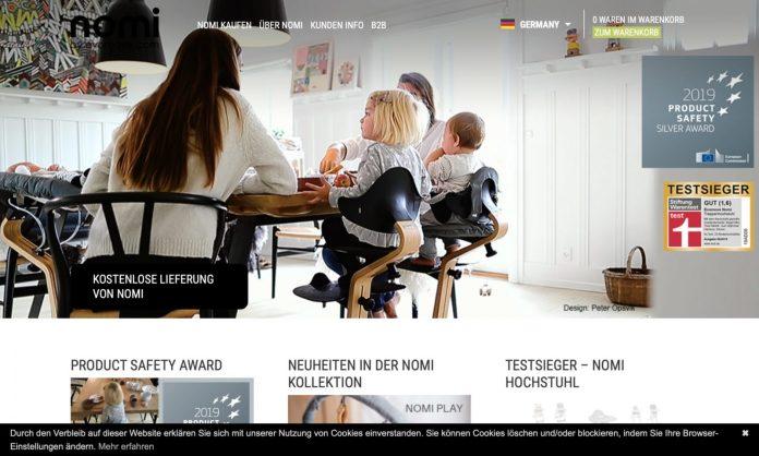Screenshot der Marke Nomi