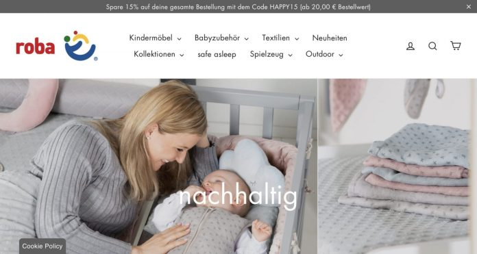 Screenshot der Marke Roba Kindermöbel
