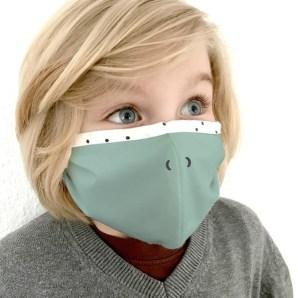 """Kluba Medical, bekannt für das Köpfchenkissen Medibino, hat nun auch Masken im Programm, hier das Modell """"Friedo""""."""