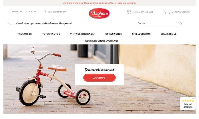 Screenshot der Marke Baghera