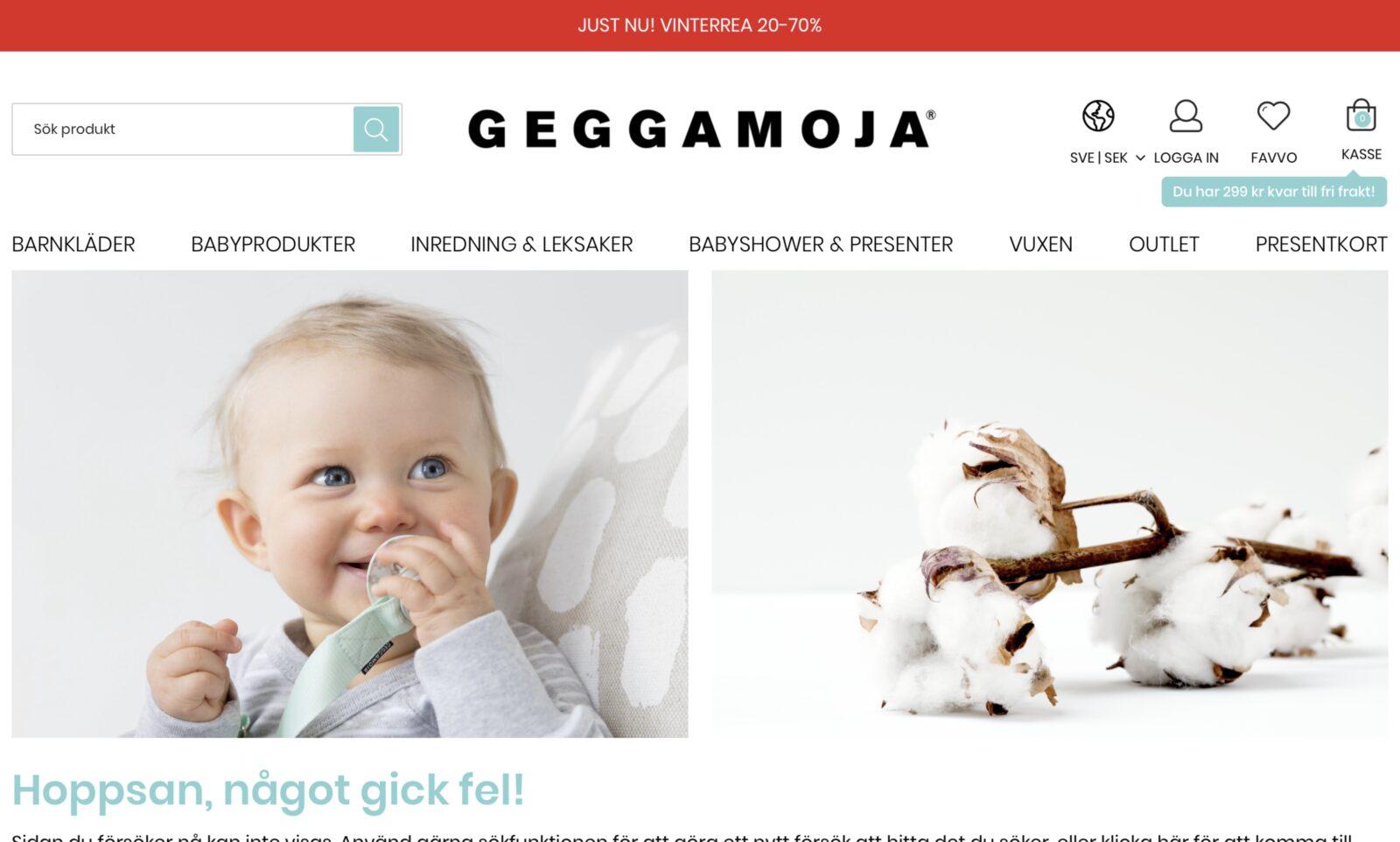 Screenshot der Marke Geggamoja