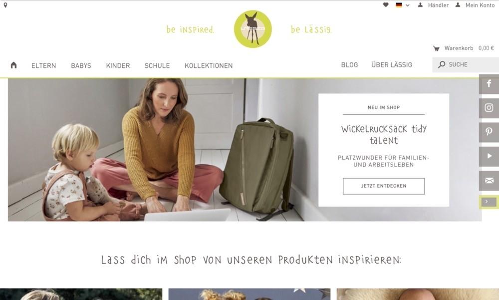 Screenshot der Marke Laessig