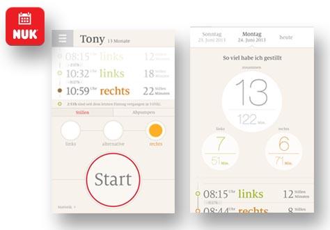 Die NUK-App rund ums Stillen