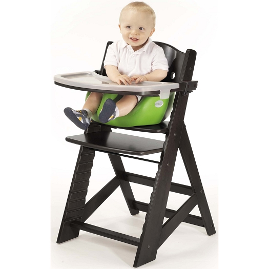wooden high chairs for babies desk chair under 200 keekaroo height right with infant insert bundle home feeding