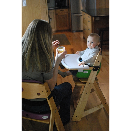 keekaroo high chair how to reupholster a wing height right wooden with infant insert bundle