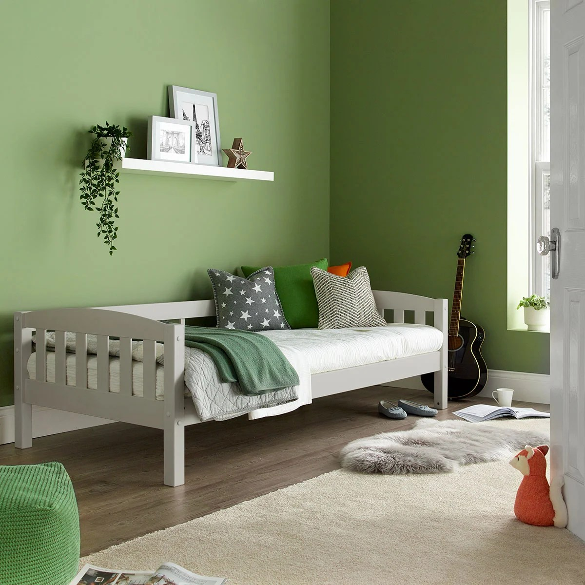 Max Grey Wooden Combination Bed Happy Beds