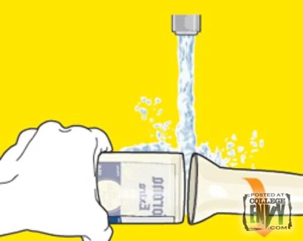 eau1 Fabriquez de jolis verres avec des bouteilles de bière usagées !