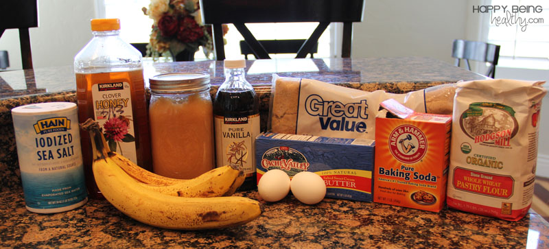 Ingredients for Banana Bread Recipe | How To Bake A Healthy Banana Bread Recipe From Scratch