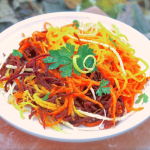Ginger Spiced Carrot Slaw