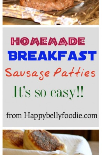 Homemade Breakfast Sausage Patties are deliciousness taken to a whole new level! Try this recipe and you'll never buy pre-made sausage again. from Happybellyfoodie.com