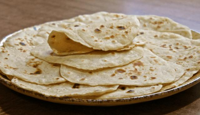 homemade flour tortillas using a pasta maker