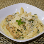 Pressure Cooker Artichoke & Spinach Pasta with Chicken