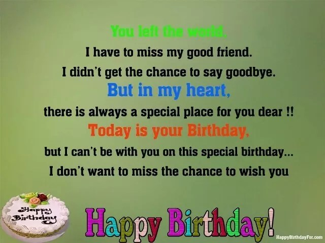 Happy Birthday Wishes For Best Friends In Heaven