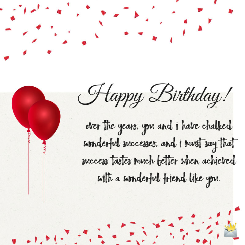 birthday message for a