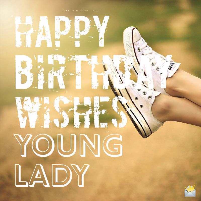 happy birthday young lady