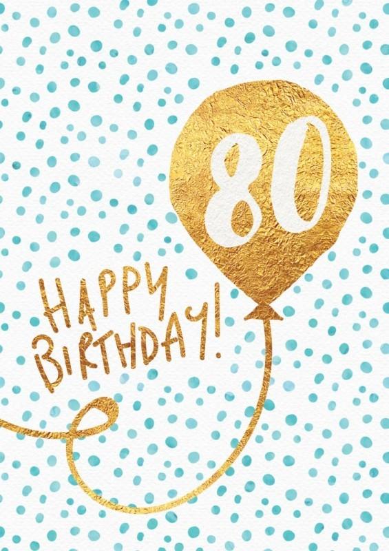 Birthday Greetings 80th Birthday