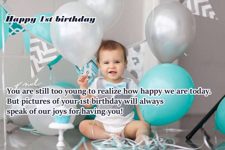 Best 1st Happy Birthday wishes For Baby Boy