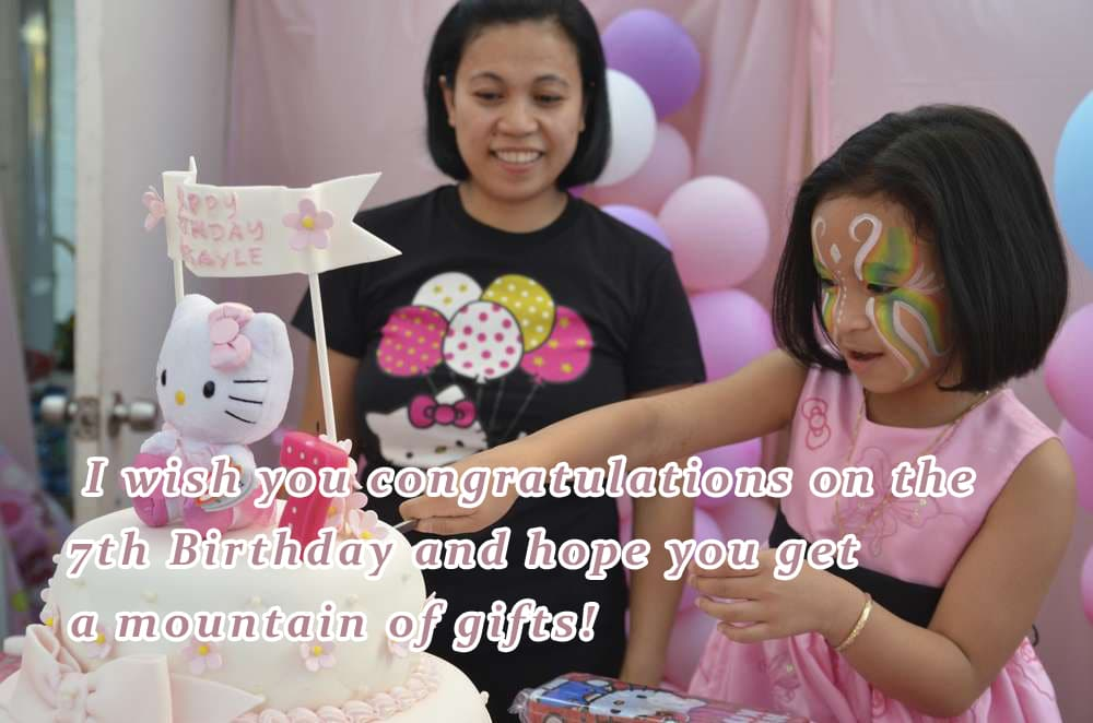 Sweet Happy Birthday Wishes For 7 Year Old Boy Girl