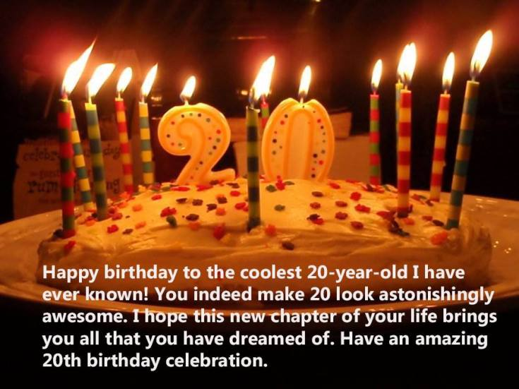 Happy 20th Birthday wishes for girlfriend