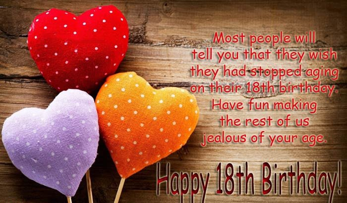 Top 100 Happy 18th Birthday Wishes For Girl & Boy