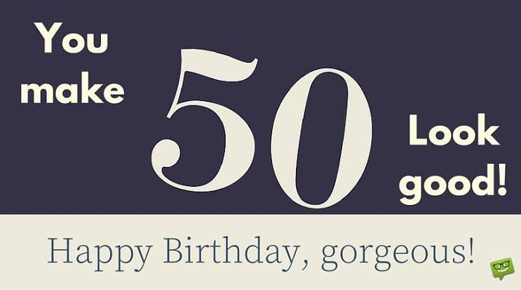 Phenomenal Gorgeous 100 Happy 50Th Birthday Wishes Messages Quotes Personalised Birthday Cards Veneteletsinfo