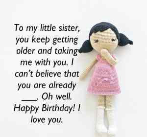 Birthday wishes for Sis