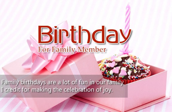 Happy Birthday Wishes For Family