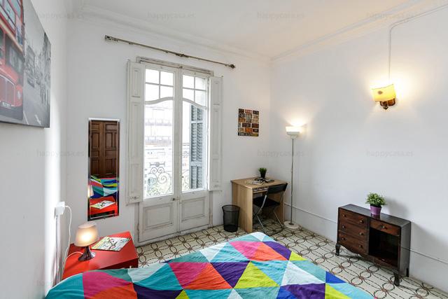 Grande chambre ensoleillée appartement à partager Barcelone