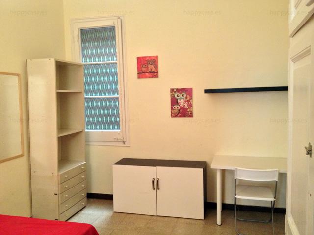 Chambre entièrement équipée à louer Barcelone eixample esquerra