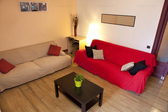 Bonito salón alquiler piso compartido con WIFI Barcelona