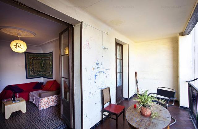 Habitación en piso compartido balcón internet Ausias Marc