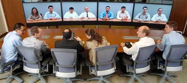 Visioconférence lors de la réunion du Comité Social et Economique