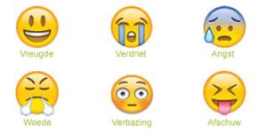 Plaatjes van basisemoties emoticons