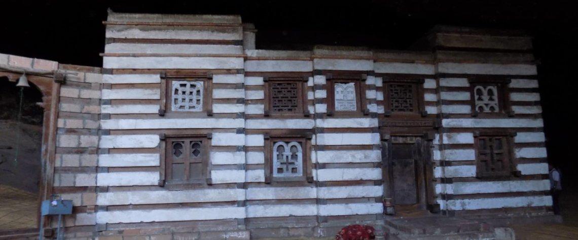 This photo shows Yemrehanna Kristos Church, built underground in northern Ethiopia