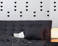 Heart Pattern Wall Decal Baby Nursery Modern Vinyl Sticker