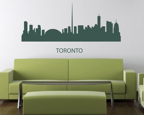 City Landscape Vinyl Decals Silhouette Modern Wall Art Sticker