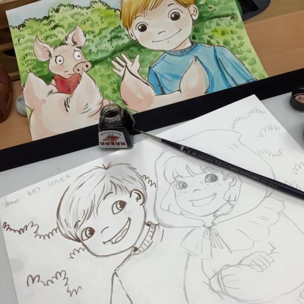 Childrens Book Illustrator Happy Designer