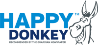 Image displaying happy donkey coffee logo