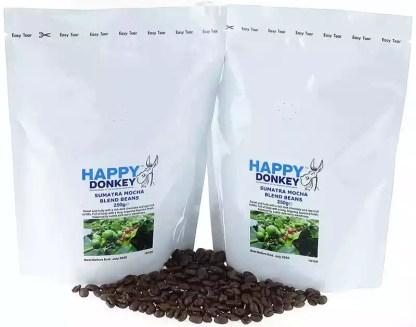 Image displaying sumatra mocha coffee beans.