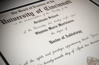 Dr. Dewsnup Doctorate Diploma