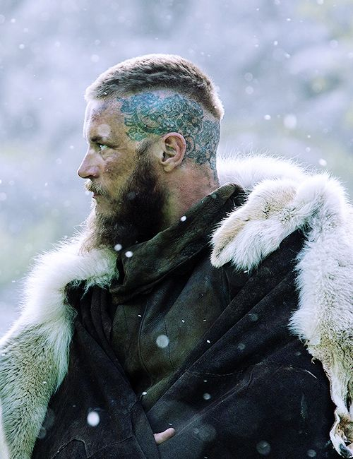 Ragnar Lothbrok Tattoo Head