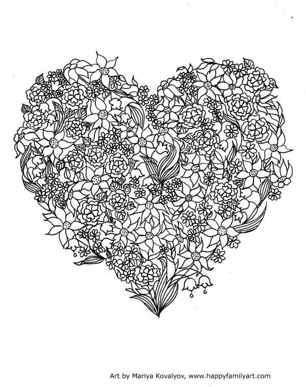 printable valentines day coloring pages # 73