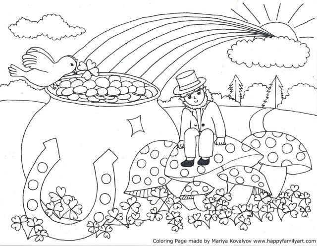 Ulysses nyc st patricks day coloring pages