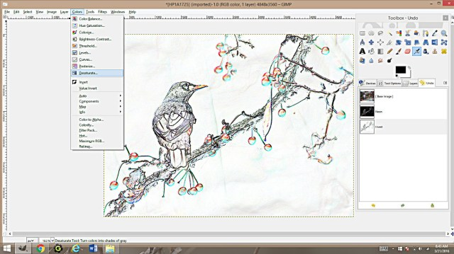 Making Coloring Pages From Photographs Using Gimp - Happy Family Art